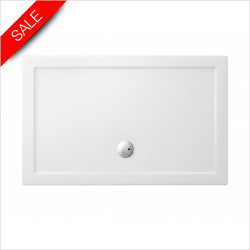 Simpsons Shower Trays - Walk In Rectangular Tray (Rect Internal) 1400x900x35mm
