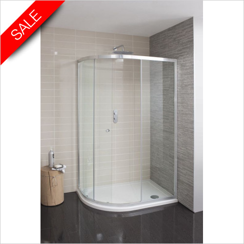 Simpsons Shower Enclosures - Edge Quadrant Single Door 1000x800mm