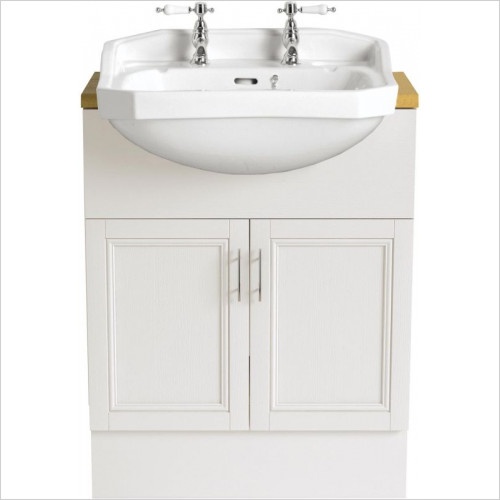 Heritage Basins - Granley Medium Semi-Recessed Basin 2TH