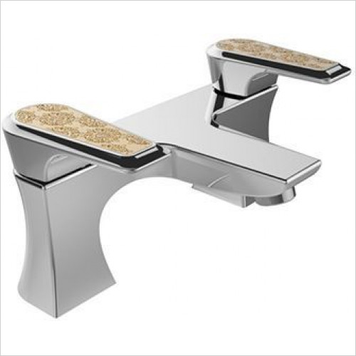 Heritage Taps - Lymington Bath Filler With Gold Inlay