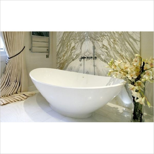BC Designs - Kurv Thinn Bath 1890 x 900mm With Integral Overflow