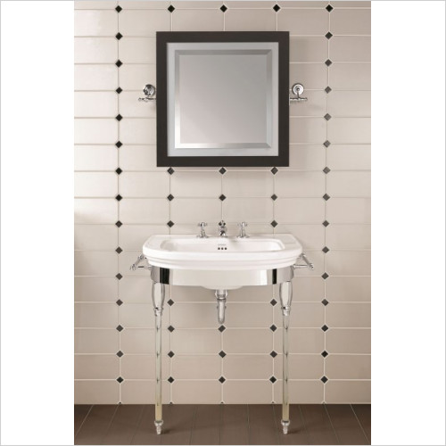 Imperial Bathroom Accessories - Carlyon Basin Stand, Glass Legs