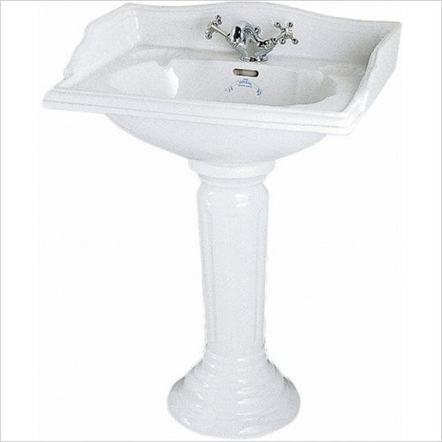 Imperial Bathroom Basins - Oxford Fluted Pedestal