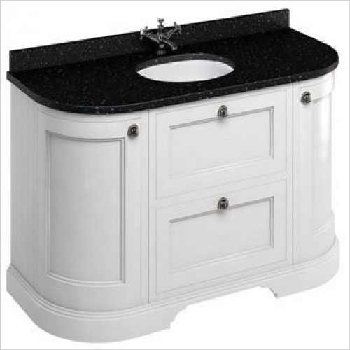 Burlington - 1340 Freestanding Unit, Drawers & 2 Round Corner Cupboards