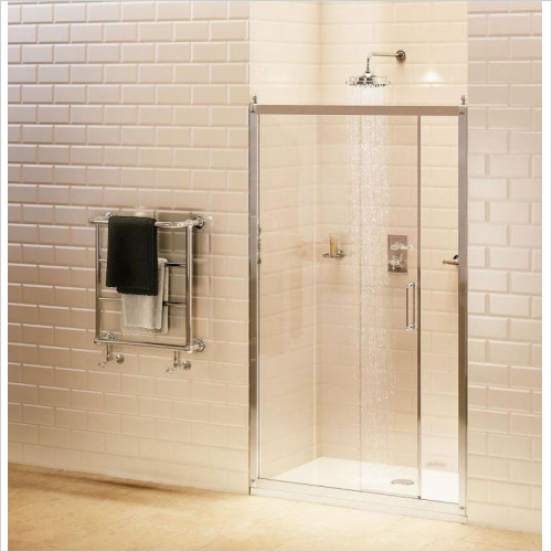 Burlington Shower Enclosures - Soft Close Slider Door 110cm