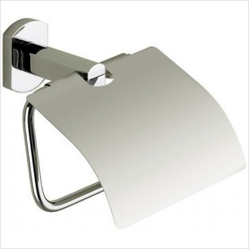 Bathroom Origins - Gedy Edera Toilet Roll Holder With Flap