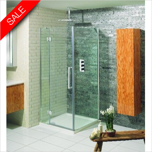 Simpsons Shower Enclosures - Ten Hinged Door 900mm