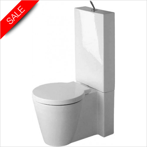 Duravit Toilets - Starck 1 Toilet Close Coupled Vario Outlet Washdown