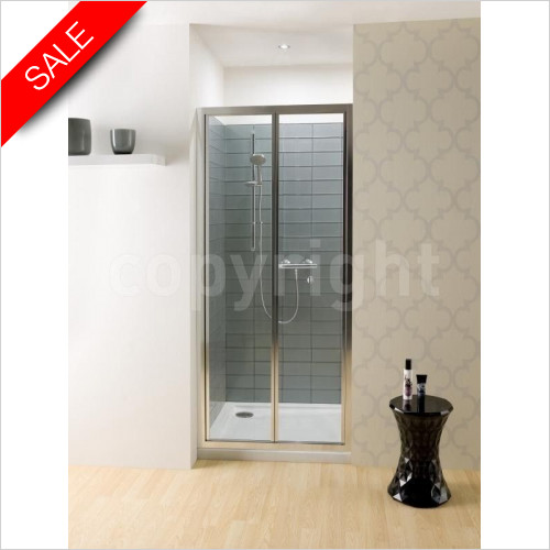 Simpsons Shower Enclosures - Edge Bifold Door 900mm
