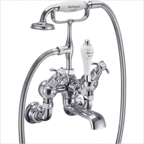 Burlington - Anglesey Regent Angled Bath Shower Mixer - Wall Mounted
