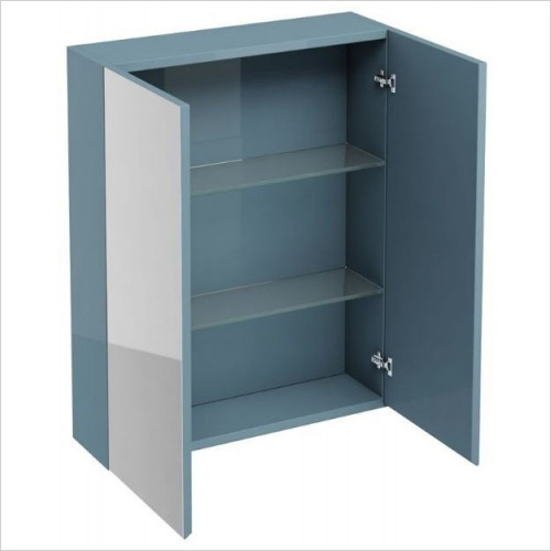 Aqua Cabinets - Wall Cabinet With Mirror 600mm