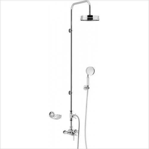 Heritage Showers - Somersby Exposed Shower With Deluxe Fixed Riser Kit