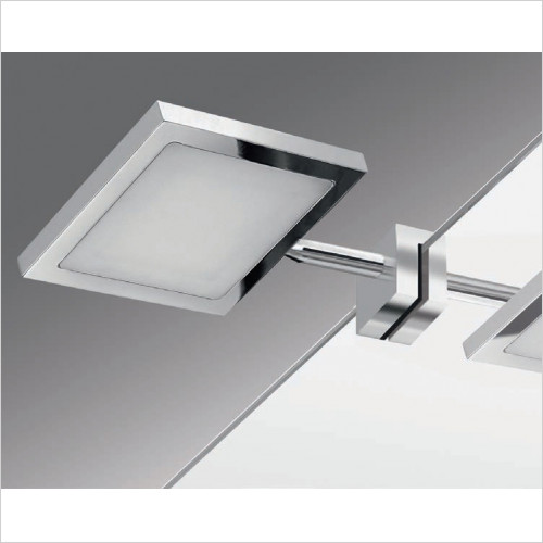 Bathroom Origins - Gedy Square LED Mirror Light