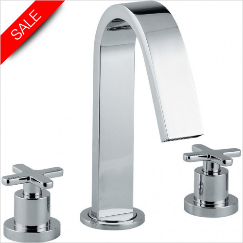 Abode - Serenitie 3 Hole Deck Mounted Bath Mixer