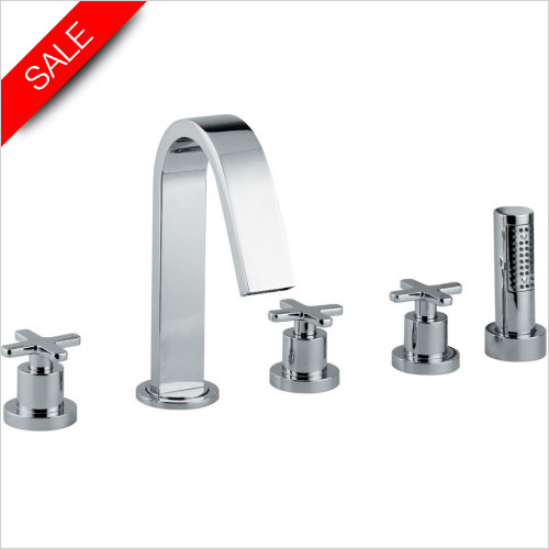 Abode - Serenitie 5 Hole Bath Shower Mixer