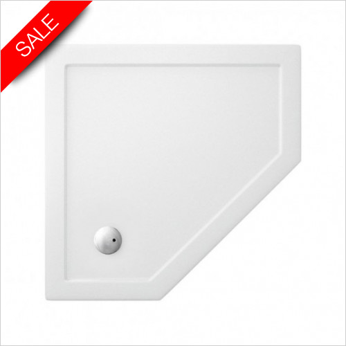 Simpsons Shower Trays - Pentangle Tray 1400x900x35mm RH