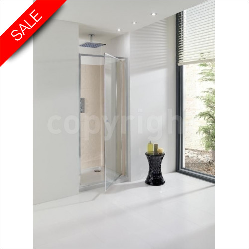 Simpsons Shower Enclosures - Edge Pivot Door 760mm