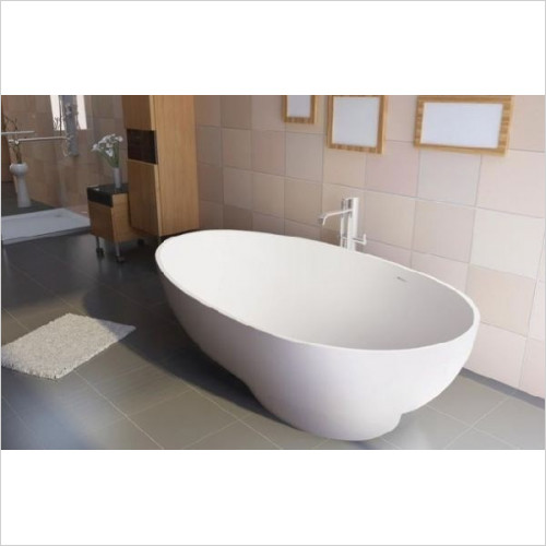BC Designs - Gio Thinn Bath 1645 x 935mm With Overflow