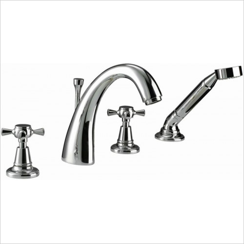 Imperial Bathroom Taps - Cisne 4TH Bath Filler Kit