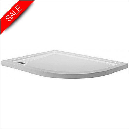 Simpsons Shower Trays - Quadrant Tray 1000x800x35mm RH