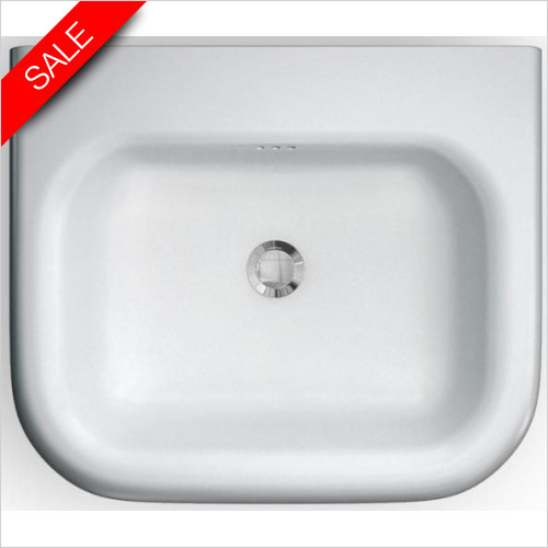 Clearwater - Roll Top Traditional Basin With Overflow 550 x 470 x 171mm