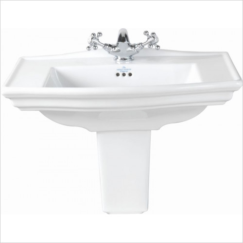 Imperial Bathroom Basins - Westminster Medium Semi Pedestal