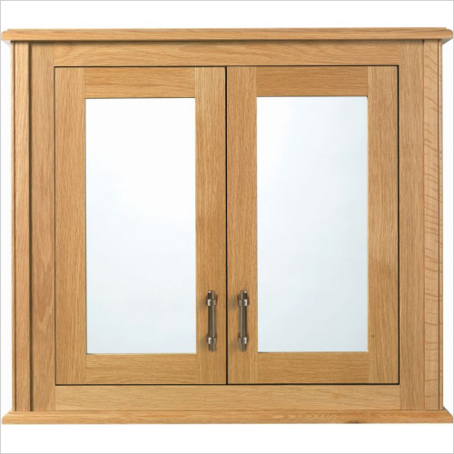 Imperial Bathroom  Furniture - Thurleston Mirror Wall Cabinet, 2 Wood/Mirror Glass Doors
