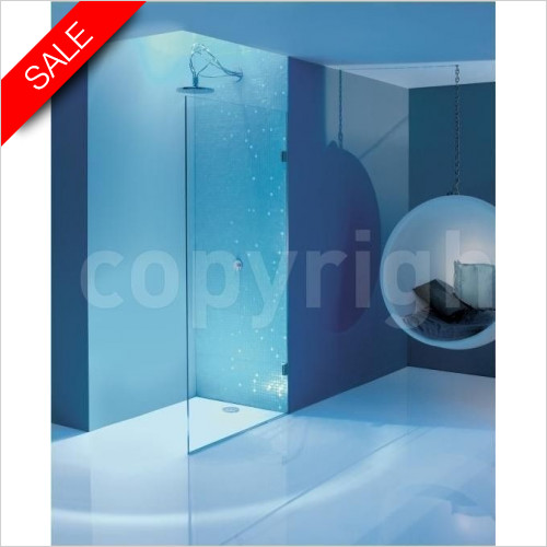 Simpsons Shower Enclosures - Ten Single Fixed Panel 1000mm