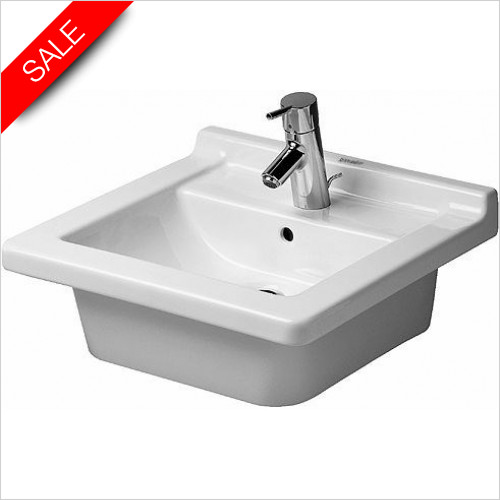 Duravit Basins - Starck 3 Furniture Washbasin 48cm With Overflow
