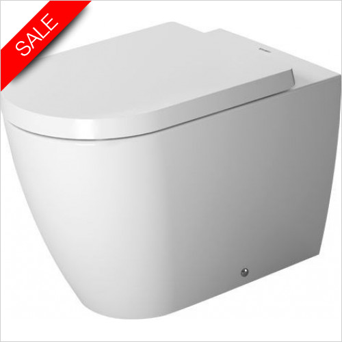 Duravit Toilets - ME By Starck Toilet Floorstanding 600mm Washdown Back To Wal