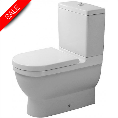 Duravit Toilets - Starck 3 Toilet Close-Coupled 655mm Washdown Vario Outlet