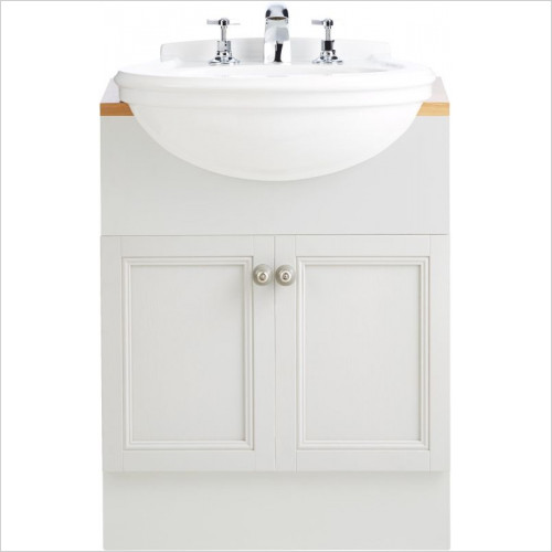 Heritage Basins - Claverton Semi Recessed Basin 1TH
