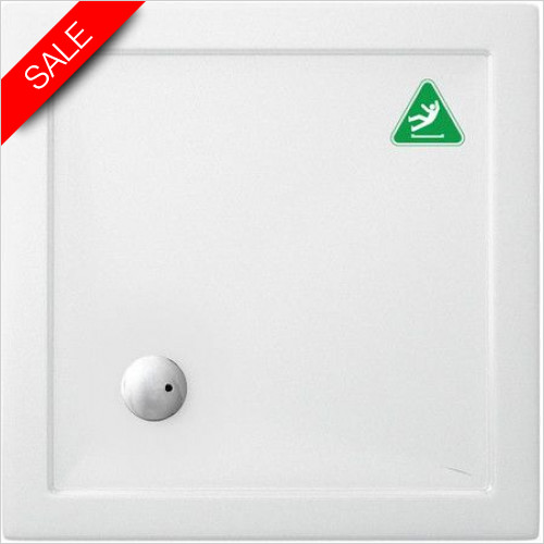Simpsons Shower Trays - Square Tray 800x800x35mm Anti Slip