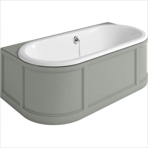 Burlington Baths - London Back To Wall Bath With Panels (Includes Waste)