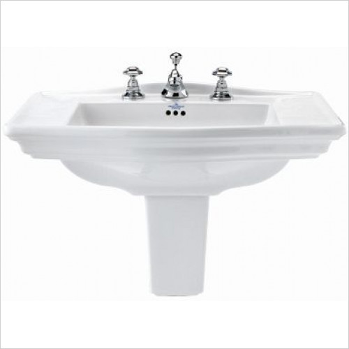 Imperial Bathroom Basins - Westminster Large Semi Pedestal