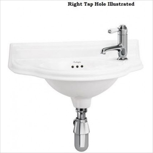 Burlington - Curved Cloakroom Basin 1TH LH