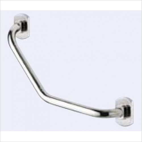 Bathroom Origins - Gedy Edera Angled Grab Bar