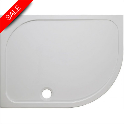 Simpsons Shower Trays - Stone Resin Offset Quad Tray 1000x800x45mm LH
