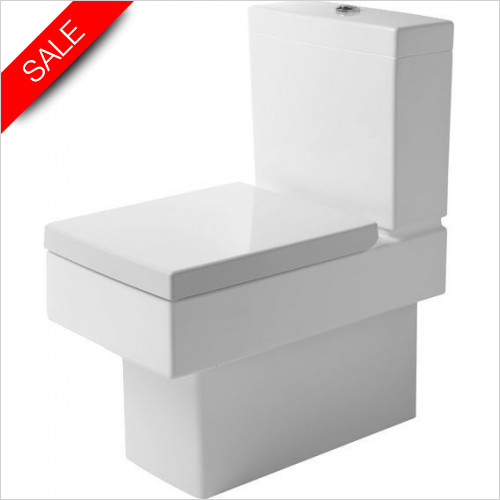 Duravit Toilets - Vero Toilet Close Coupled 630mm Vario Outlet Washdown