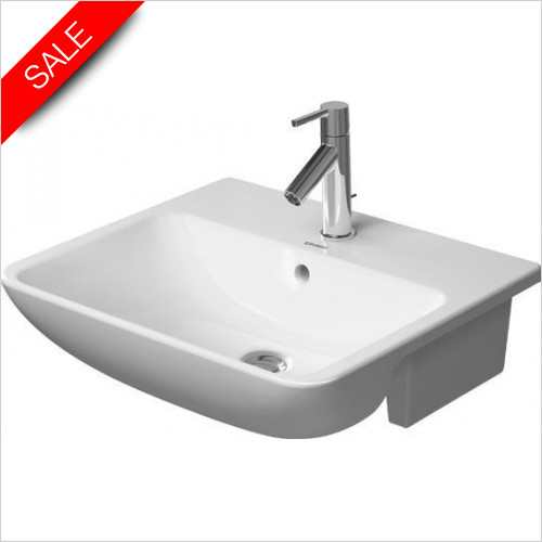 Duravit Basins - ME By Starck Semi-Recessed Washbasin 550mm 3TH