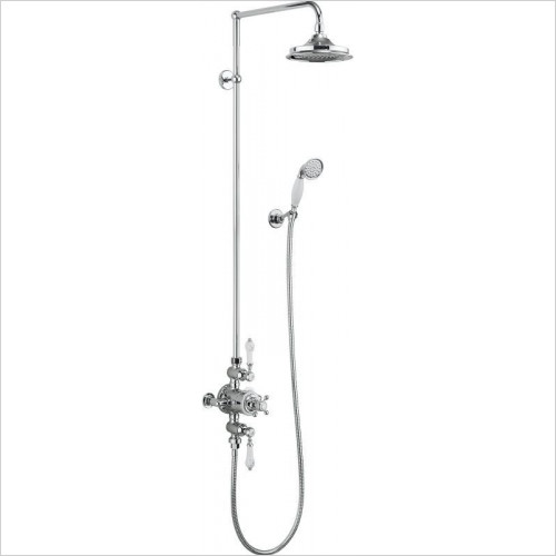 Burlington Showers - Avon Thermostatic Exposed Shower Valve 2 Outlets