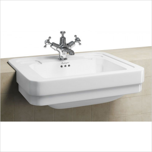 Burlington - Semi Recessed Basin 58cm 1TH