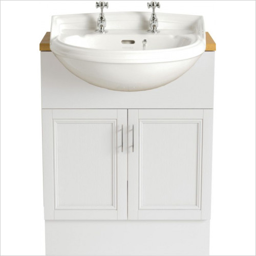 Heritage Basins - Dorchester Medium Semi-Recessed Basin 1TH