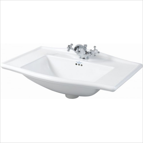 Imperial Bathroom Basins - Westminster Vanity Basin 685mm 2TH