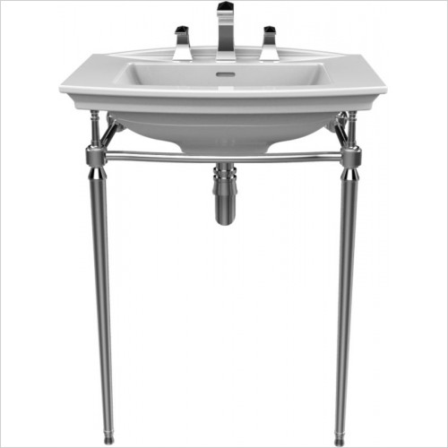 Heritage Accessories - Abingdon Blenheim Washstand Glass Shelf, Chrome Fixings