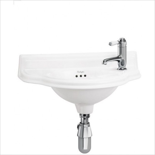 Burlington - Curved Cloakroom Basin 1TH RH