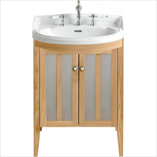 Heritage Furniture - Hidcote 500mm Bow Front Medium Vanity Unit