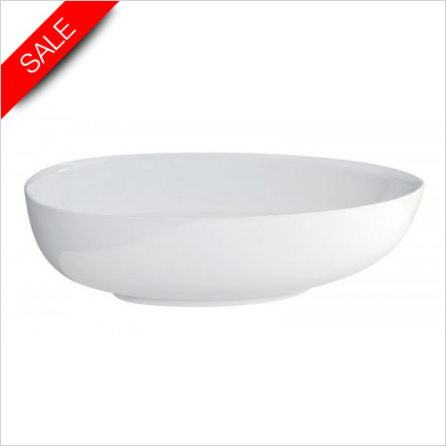Clearwater - Teardrop Petite Modern Bath 1690 x 820mm Clearstone