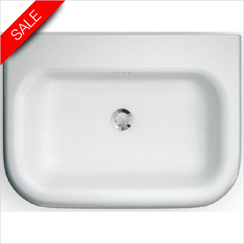 Clearwater - Roll Top Traditional Basin With Overflow 650 x 470 x 171mm