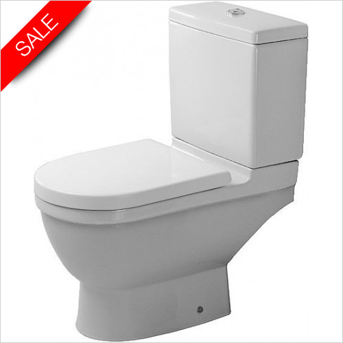 Duravit Toilets - Starck 3 Toilet Close Coupled Horizontal Outlet Washdown